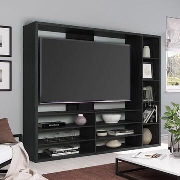 """Mainstays Entertainment Center for TVs up to 55"""", Ideal TV Stand for Flat Screens, Multiple Finishes"""