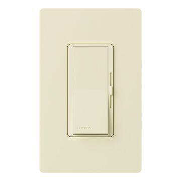 Lutron Diva Single-Pole/3-Way Almond Rocker Light Dimmer
