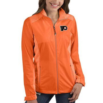 Women's Antigua Orange Philadelphia Flyers Revolve Full-Zip Jacket