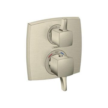 Hansgrohe Ecostat Classic Trim With Volume Control, Square, Brushed Nickel