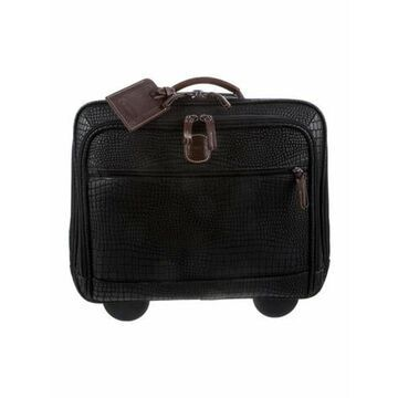 Embossed Leather Carry-On black