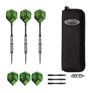 Viper Sidewinder Tungsten Steel Tip Darts 23 Grams and Casemaster Salvo Black Nylon Dart Case