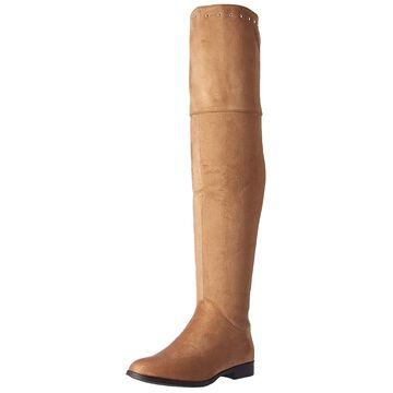 Xoxo Womens Travis Fabric Almond Toe Knee High Fashion Boots