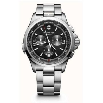 Victorinox Night Vision Black Dial Stainless Steel Men's Watch 241780