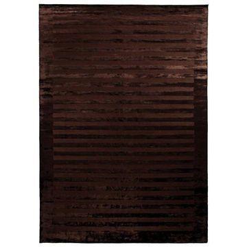 Exquisite Rugs Chocolate Viscose Wide Stripe Rug - 10' x 14'