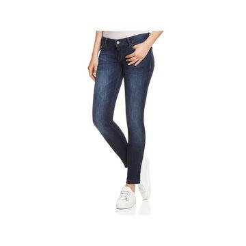 DL1961 Womens Cameron Skinny Jeans Raw Hem Low Rise