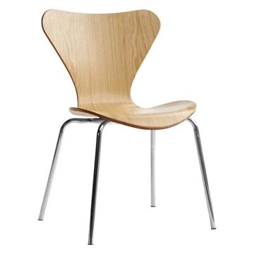 Fine Mod Imports Jays Dining Chair, Natural