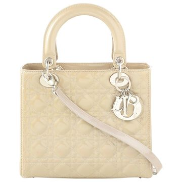 Dior Lady Dior Green Patent leather Handbag
