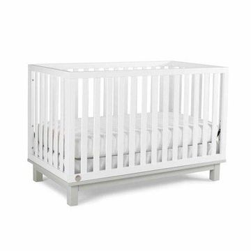 Fisher-Price Riley 3 in 1 Convertible Crib Snow White and Misty Gray