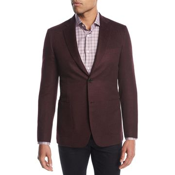 Cashmere-Silk Two-Button Blazer