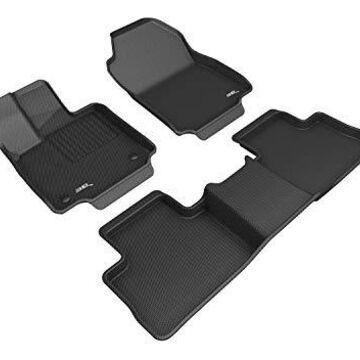 Y25501509 Kagu 2 Row Floor Mat Set for Toyota Rav4 Hybrid Models, Black