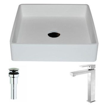 ANZZI Passage Series ANZZI Stone Vessel Sink with Enti Faucet, Brushed Nickel