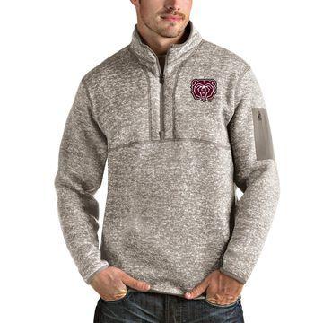 Missouri State University Bears Antigua Fortune Half-Zip Pullover Jacket - Oatmeal