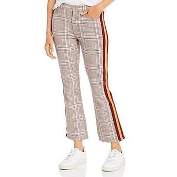Mother The Insider Plaid Ankle Flare Jeans