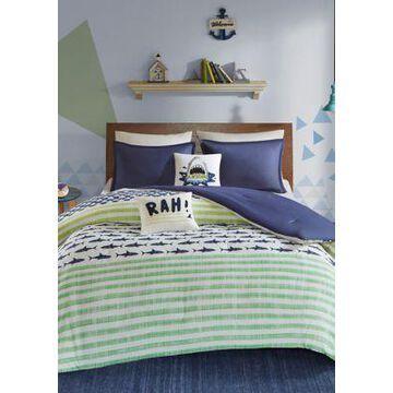 Jla Home Finn Shark Comforter Set - -