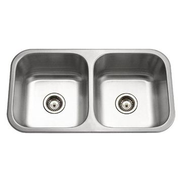 Houzer MD-3109-1 Medallion Classic Stainless Steel 50/50 Double Bowl S