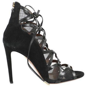 Aquazzura Black Leather Heels