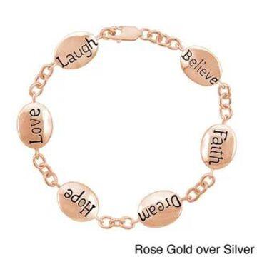 Mondevio Inscripted Inspirational Bracelet (N/A - Rose)