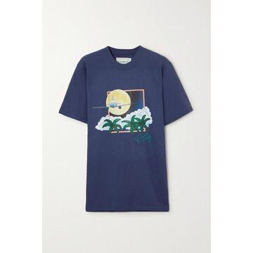 Casablanca - Printed Cotton-jersey T-shirt - Navy