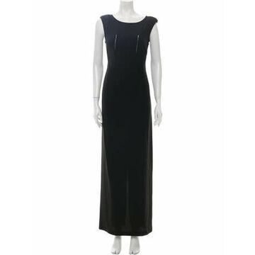 Scoop Neck Long Dress w/ Tags Black