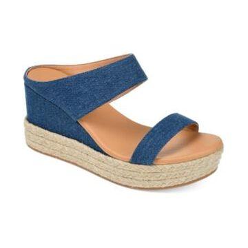 Journee Collection Women's Alissa Espadrille Slides Women's Shoes