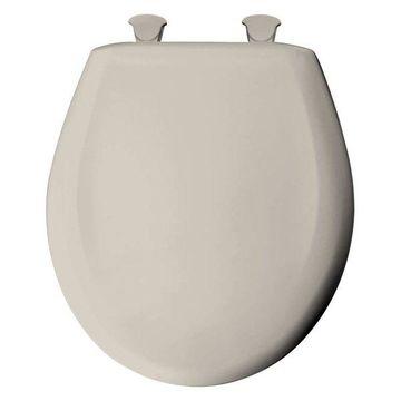 Bemis 200SLOWT 376 Plastic Round Slow-Close Toilet Seat, Warm White