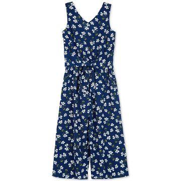 Big Girls Floral-Print Jumpsuit