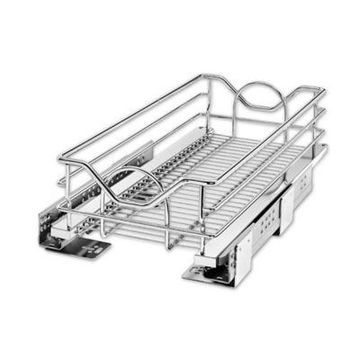 Rev-A-Shelf - 5730-12CR - 12 in. Chrome Pull-Out Basket with Soft-Close Slides