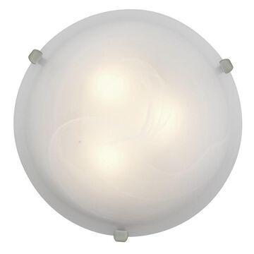 Access Lighting Mona 2-light 12 inch Brushed Steel Flush Mount - Silver