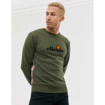 ellesse Mexicali sweat with taping in khaki