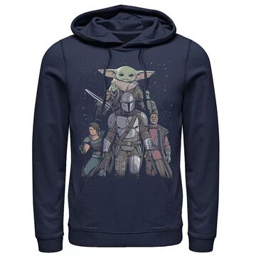 Men's Star Wars: The Mandalorian Movie Poster Hoodie, Size: Small, Blue