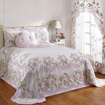 Better Trends Bloomfield Bedspread or Sham, Pink, Full