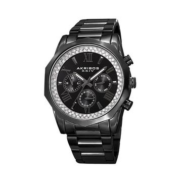 Akribos XXIV Men's Crystal Accent Watch