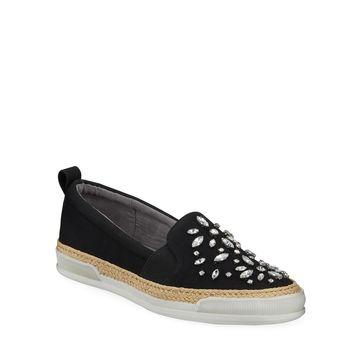 Tillie Crystal-Embellished Espadrille Sneakers