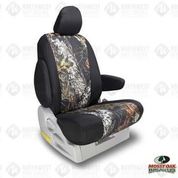 NorthWest Camo Seat Covers in Mossy Oak Break Up w/ Black Sides, 1st-Row Seat Covers