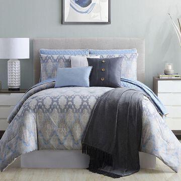 Pacific Coast 10 Piece Comforter/Coverlet Set - Paragon, Grey, Queen