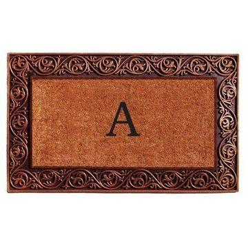 Home & More Prestige Bronze Monogram Doormat - 18 x 30 in.