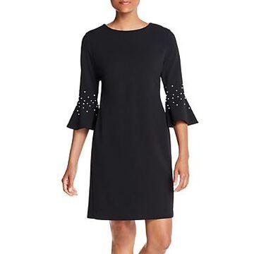 Karl Lagerfeld Paris Embellished Bell-Sleeve Dress