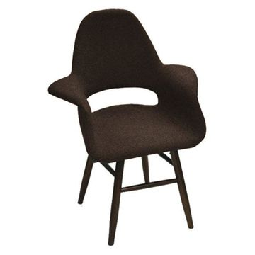Fine Mod Imports Eero Dining Chair, Brown, 36