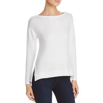 Three Dots Womens Hi-Low Boxy Sweater
