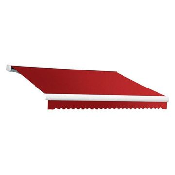 14' Key West Cassette Manual Retractable Awning, Red