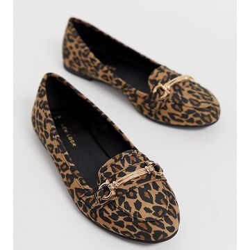 New Look loafer in animal print