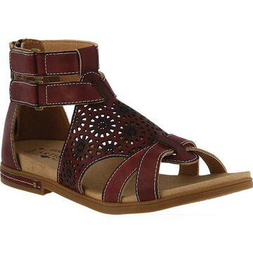 L'Artiste by Spring Step Women's Dezra Gladiator Sandal Brown Leather