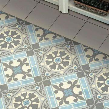 SomerTile 17.625x17.625-inch Jive Azul Ceramic Floor and Wall Tile (5 tiles/11.02 sqft.)