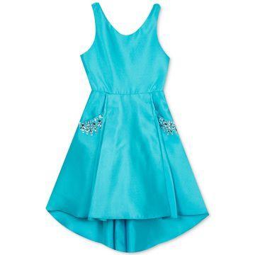 Big Girls Embellished High-Low Hem Dress
