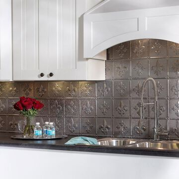 Fasade Fleur de Lis Galvanized Steel 18-square Foot Backsplash Kit