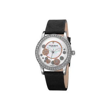 Akribos XXIV Womens Black Strap Watch-A-843bk