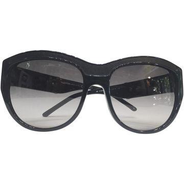 Valentino Black Plastic Sunglasses
