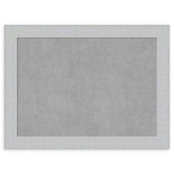 Amanti Art Large Magnetic Board in Shiplap White