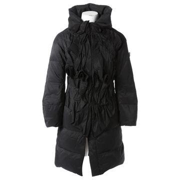 Ermanno Scervino Black Polyester Coats